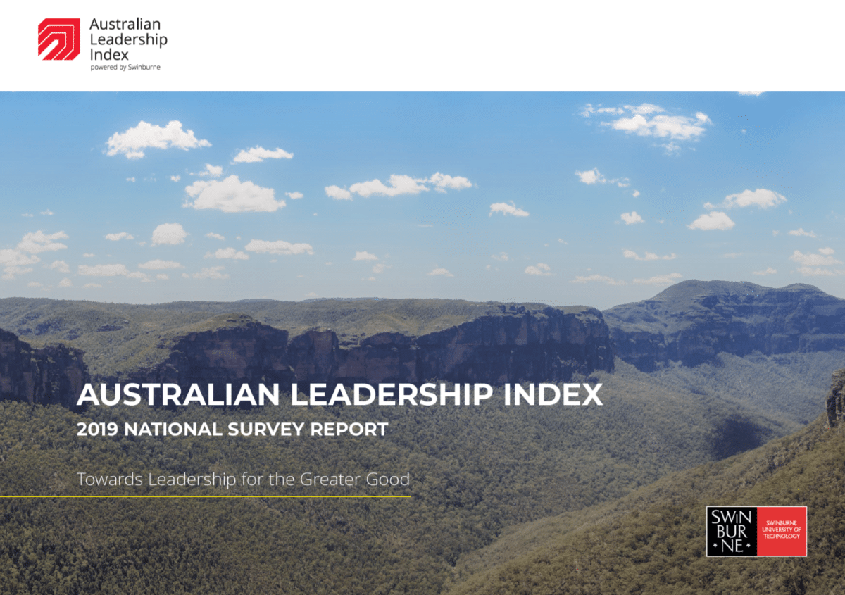 2019 Australian Leadership Index Annual Report