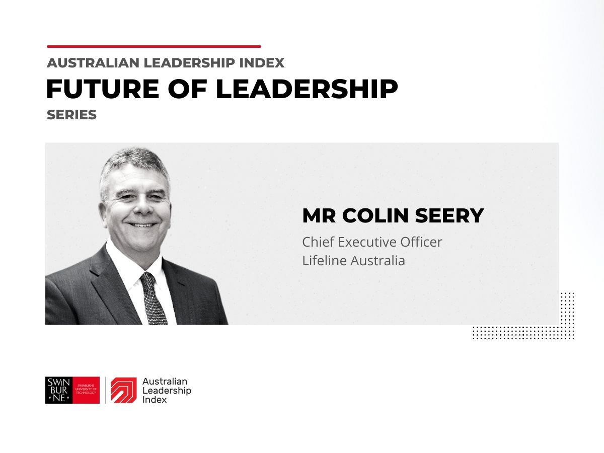 Video of Colin Seery discussing the future of leadership